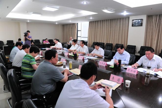 市人大常委会领导班子党的群众路线教育实践活动专题民主生活会召开